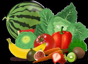 owoce warzywa w tym karczoch